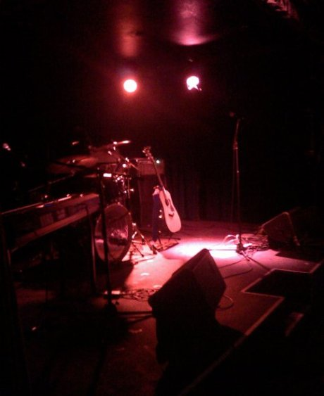 The view just before taking the stage at Cafe Du Nord for the 5/31/09 CD release party